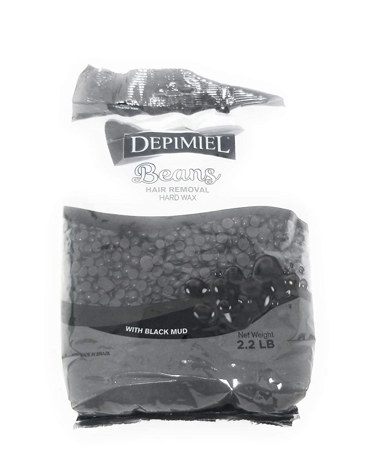 Hard Wax Black Sludge Beans 2.2 Lb for home and Professional use for all types of skin inclusve sensitive skin low temperature. easy application