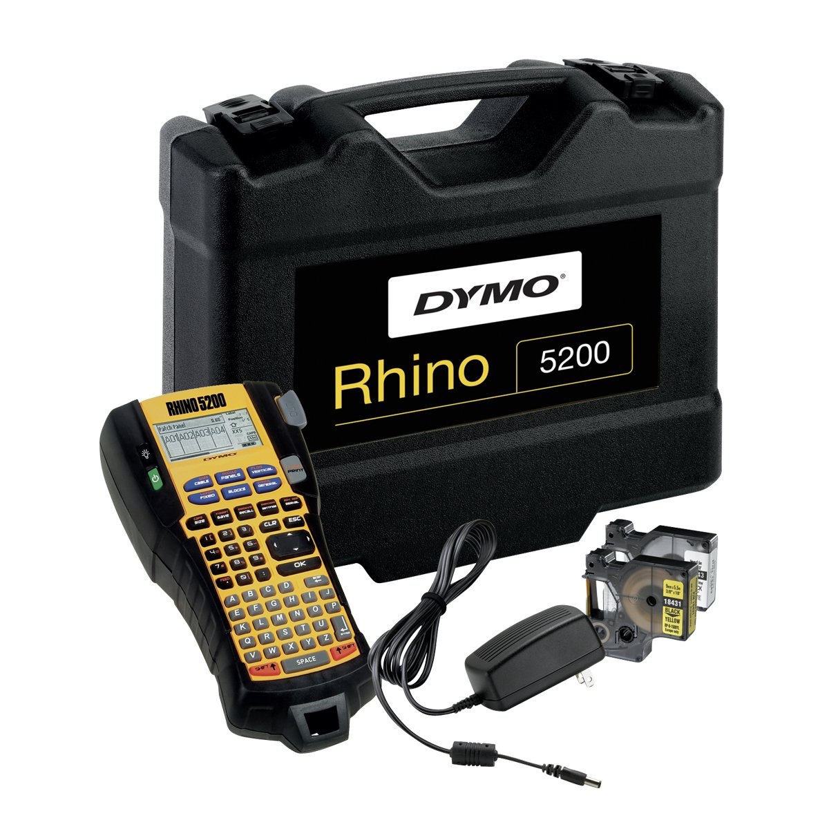 Dymo S0841400 Rhino 5200 Labelling Machine Kit Case