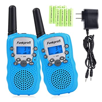Amazon.com: Funkprofi Walkie Talkies para niños 22 canales ...