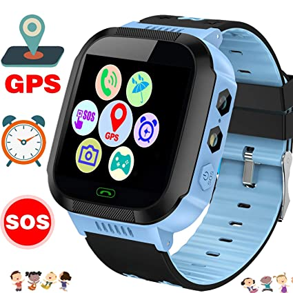 Fitness Activity GPS Tracker Watch for Kids 3-12, Smart Watch, Waterproof, Tracking Device, Two Way Chat, Phone Games Watch, Camera, Color Display ...