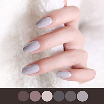 Amazon.com: Color Lab 22PCS ADHESION Nail Art Design Classic Grey ...