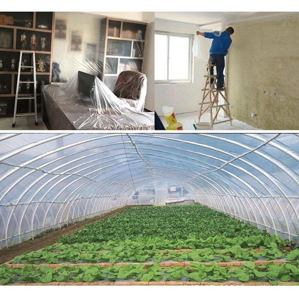COZY HOME AAA B/âche Transparente Imperm/éable /à leau et /étanche /à lhumidit/é pour la Serre V/ég/étale Terrasse ext/érieure Jardin Toit Terrasse B/âche de Protection Tissu 2X4m