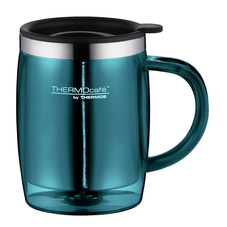 ThermoCaf/é by THERMOS 4059.256.035 B/ürotasse Desktop Mug BPA-Free Kunststoff Blau 0,35 l