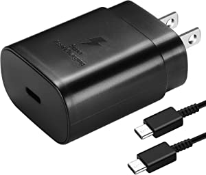 USB C Charger, PD 25W Super Fast Charger for Samsung Galaxy Note 20, Note 20 Ultra, Note10, Note10 Plus, S20, S20 Ultra, S10 5G, iPad Pro 11/12.9, Galaxy S10/ S9/ S8/ Plus with 5ft Type C Cable