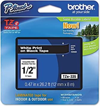 Original VHBW © Scripture Tape Tape 12mm W-S for Brother P-Touch 1005BTS