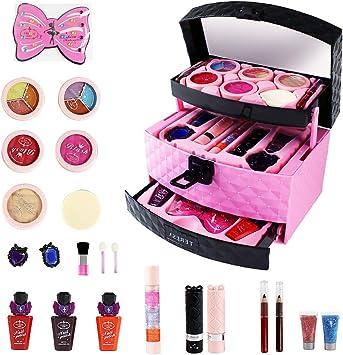 Niñas Princesa Maquillaje Juguetes Niñas Pretender Jugar Cosméticos Kit: Amazon.es: Bricolaje y herramientas