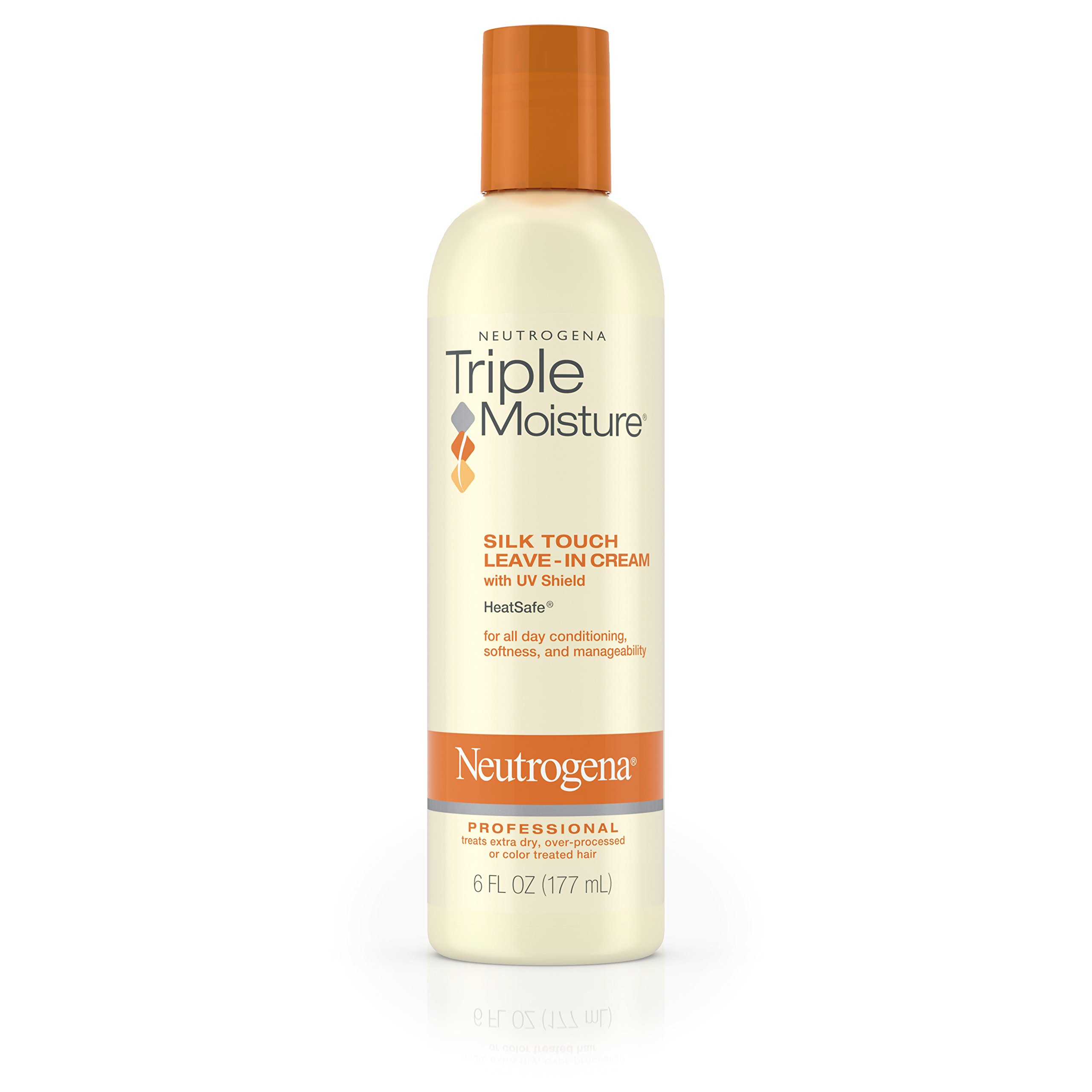 Neutrogena Triple Moisture Silk Touch Leave-In Cream For Dry And Damaged Hair, 6 Fl. Oz. (Pack of 3)
