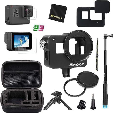 D&F Kit de Accesorios Estuche Protector para GoPro Hero 7 Black (Solo Negro)/HD (2018)/Hero 6/Hero 5 con Estuche, autofoto, Mini trípode y más: Amazon.es: Electrónica