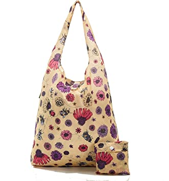 Eco Chic Purple Crocus Foldable Backpack BNWT