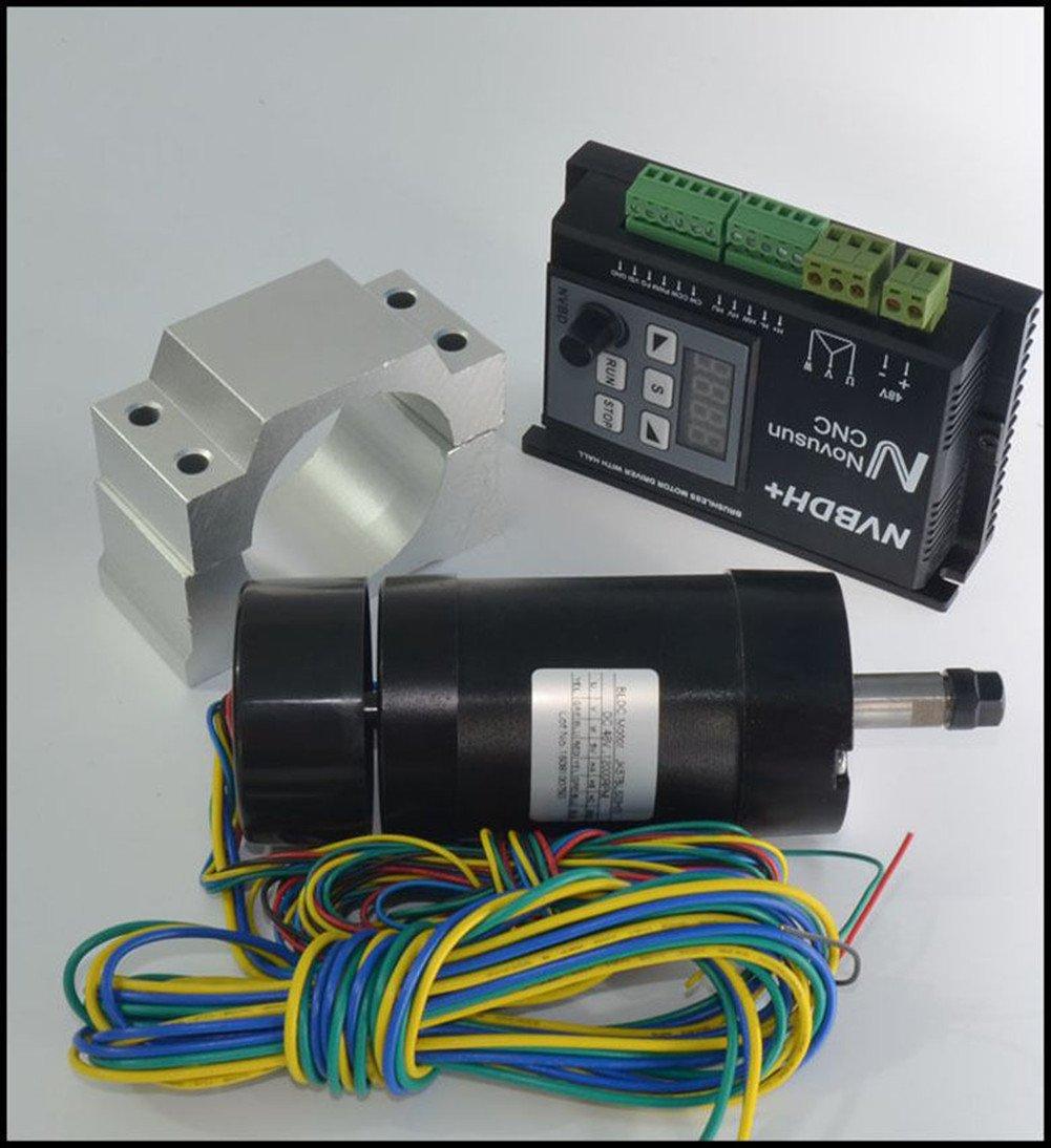 CNC 400W DC Brushless Spindle Motor Driver Kit + LCD control panel NVBDH+ 48V Eleoption