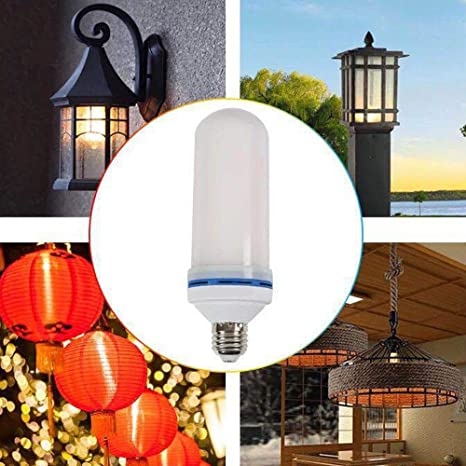 Bombilla LED, onewatt Llama Bombilla Luz titilante E27 Fuego parpadeo Pera 1500 K bombilla LED