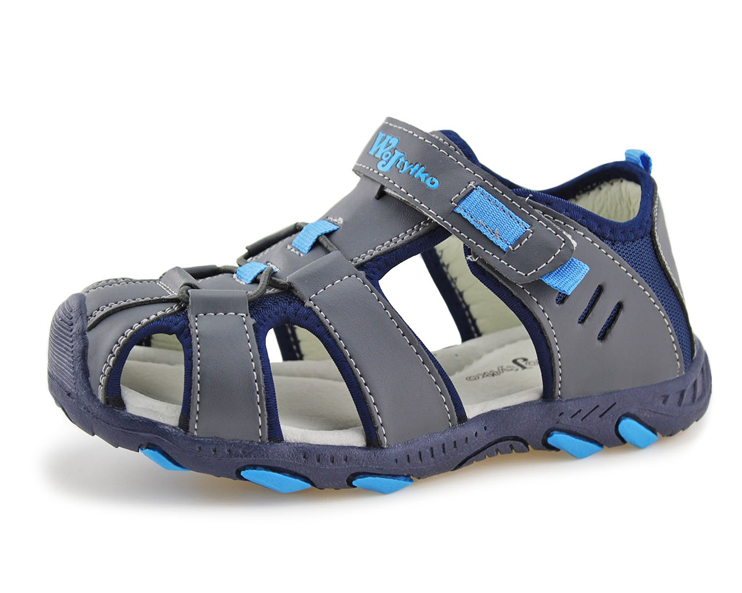 Jabasic Kids Closed-Toe Outdoor Strap Adventure Sporty Sandals (1.5 M US Little Kid, Blue-2)