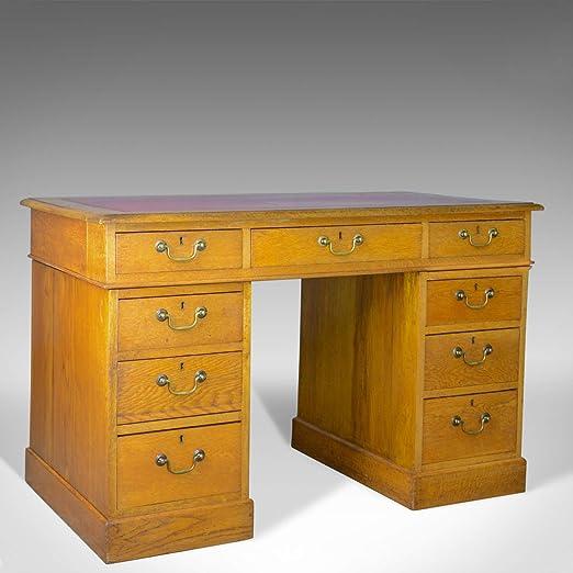 London Fine Antiques - Escritorio Antiguo para Pedestal, diseño ...