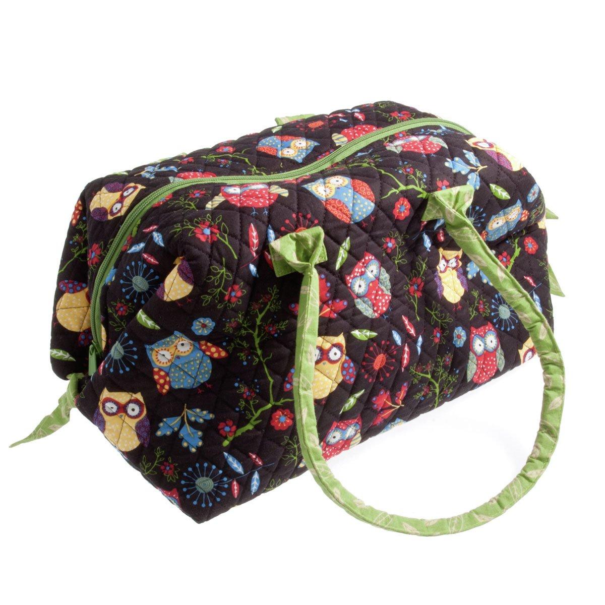 SewEasy MR4745. RRBK | Trapuntato borsa di lavoro a maglia | Desegno: Gufi sul nero | Dimensioni: 55 x 40 x 20 cm Groves