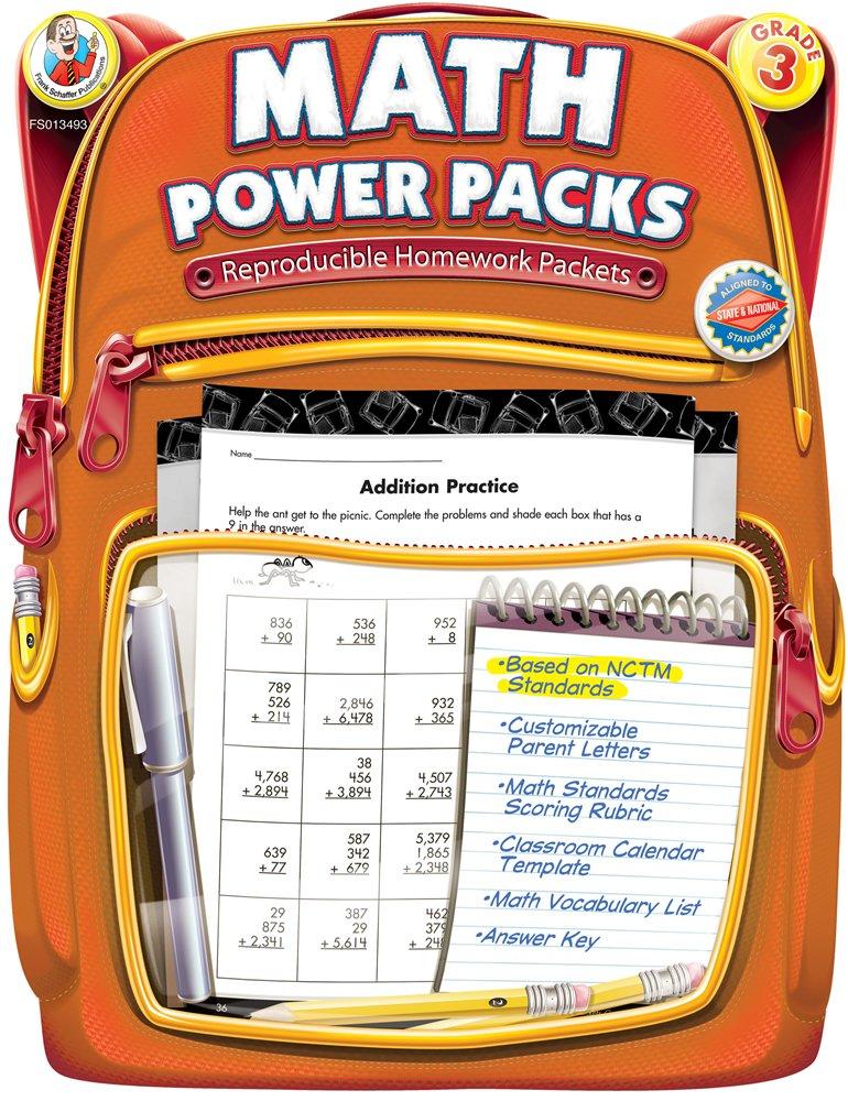 Download Math Power Packs, Grade 3: Reproducible Homework Packets PDF