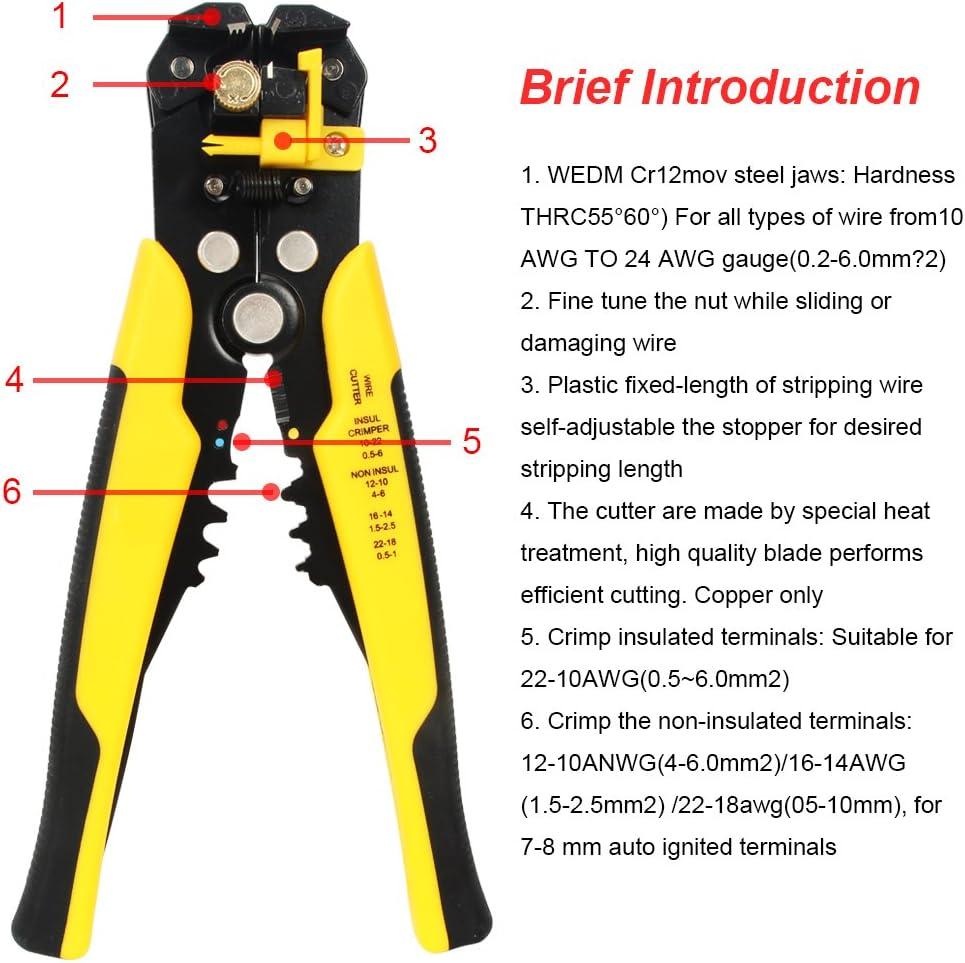 5 In Wire Stripper sharp blades 24-10 gauge