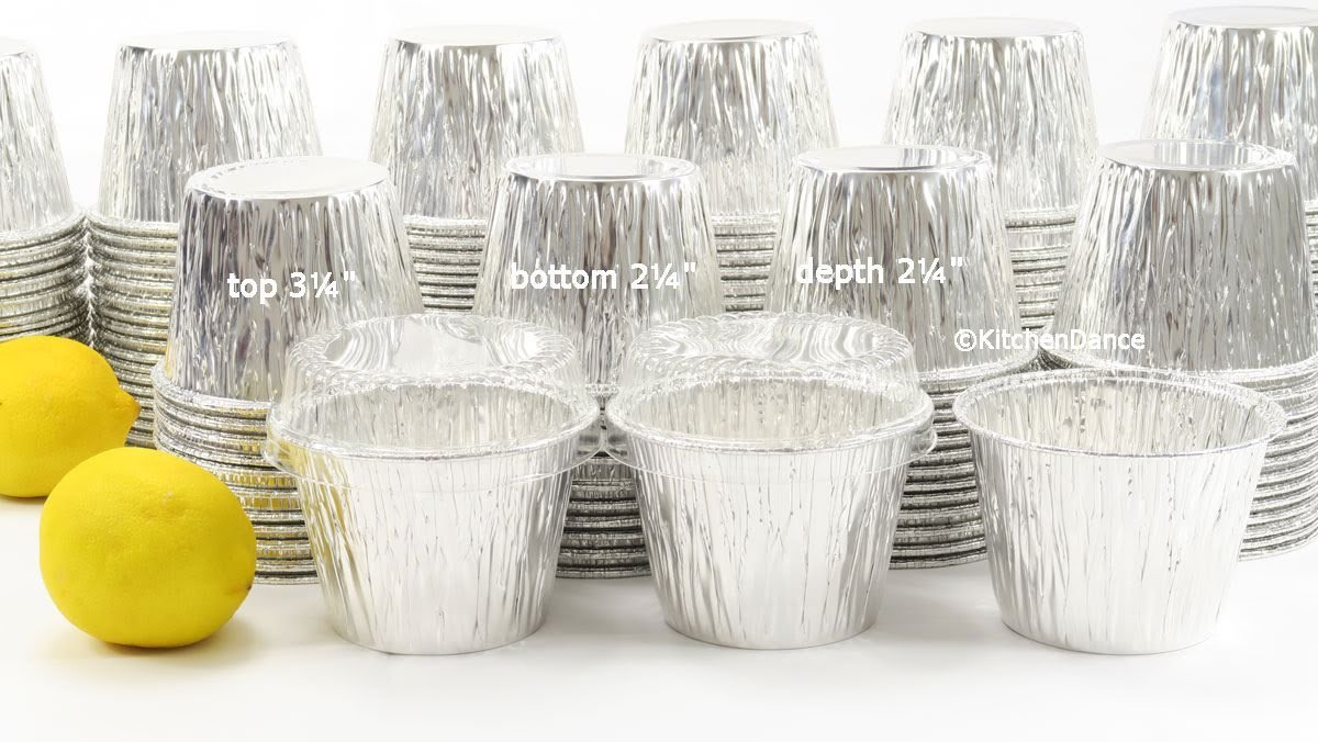 Disposable Aluminum 7 oz. Baking Cups/Cake Cups/Dessert Cups #1210P (50) by AGIANT (Image #3)