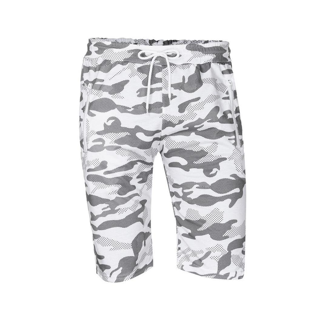 vermers Mens Summer Casual Cargo Shorts 2018 Camouflage Short Pants(L, White) by vermers (Image #5)