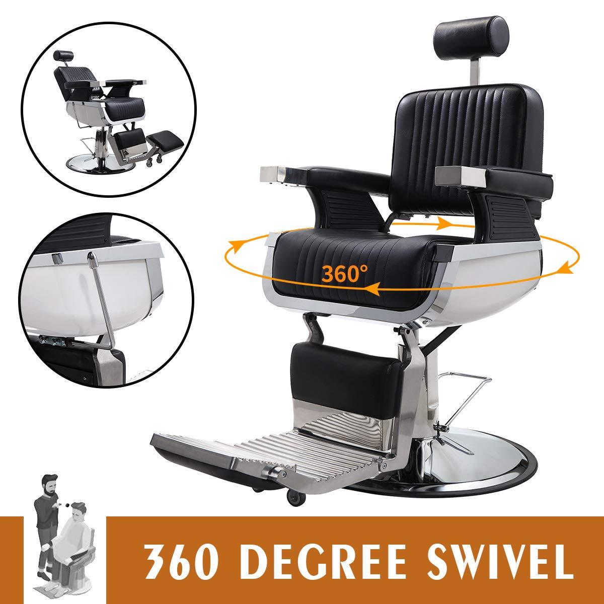 JAXPETY Hydraulic Recline Barber Chair Heavy Duty Shampoo Spa Beauty Salon Equipment by JAXPETY