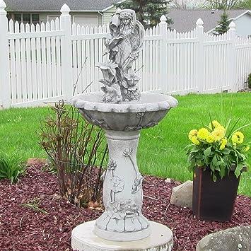 Sunnydaze Fairy Flower Solar On Demand Outdoor Water Fountain, 42.5 Inches