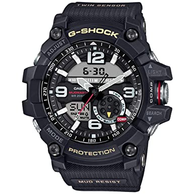 Casio G-Shock Mudmaster Twin Sensor Mens Sports Watch Black