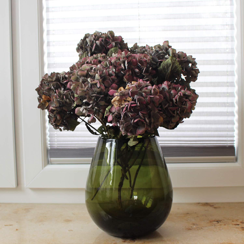 Dekovase groß 24cm Mundgeblasenes Glas, Blumenvase, Glasvase, große Vase, HANDARBEIT, Fensterdeko Geschenkidee Weihnachtsgeschenk große Vase