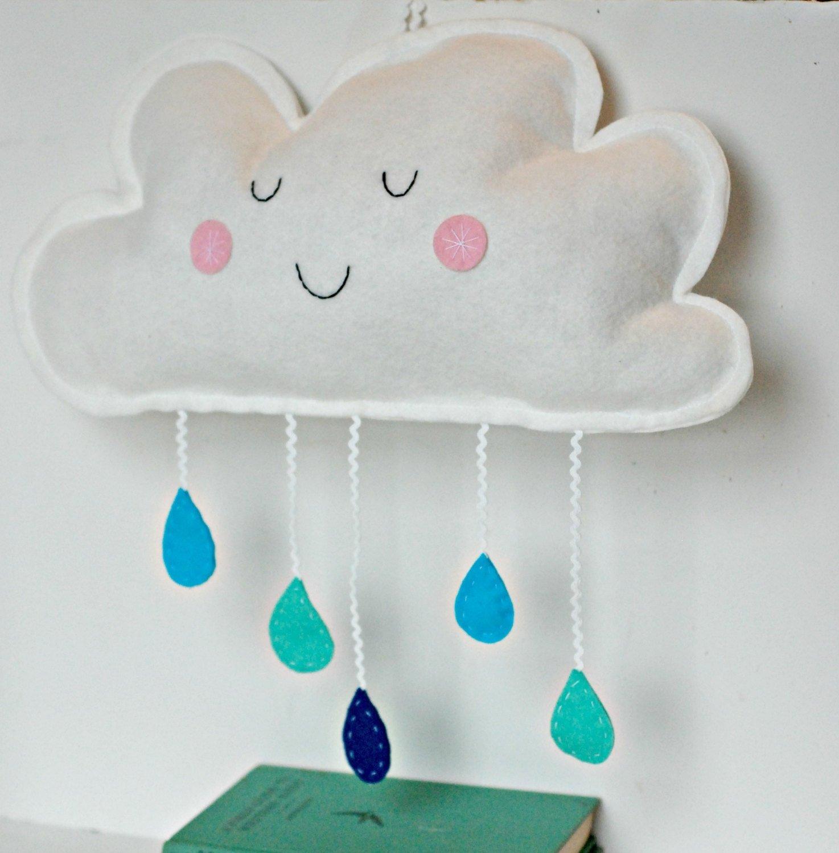 Amazon.com: Cloud Wall Hanging Nursery Decor Kids Room Decoration ...