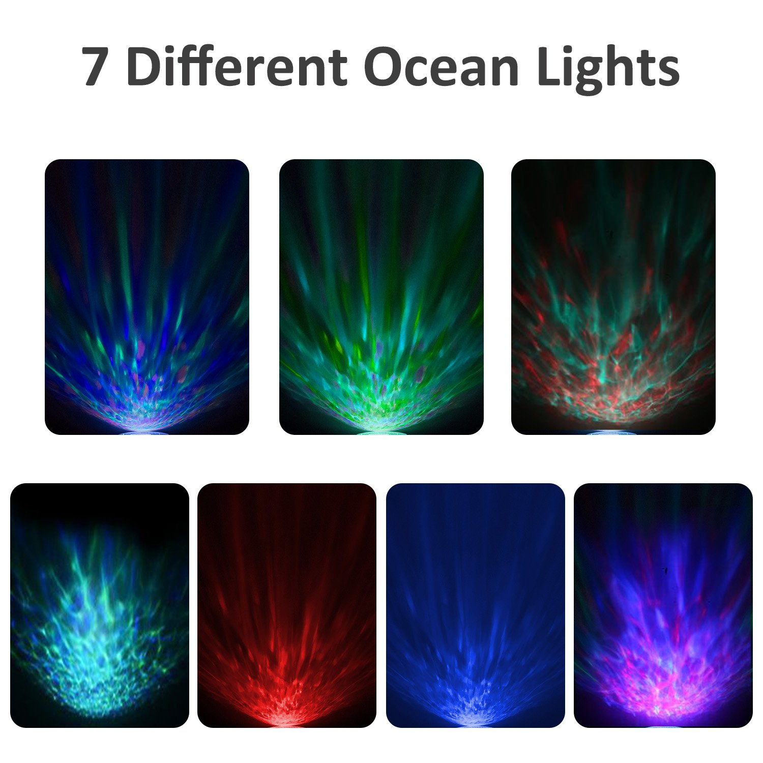 [Upgraded Model] Ecandy Remote Control Ocean Wave Projector ,Aurora Night Light Projector with Build-in Speaker, Mood Light for Baby Nursery, Adults and Kids Bedroom, Living Room (Black)
