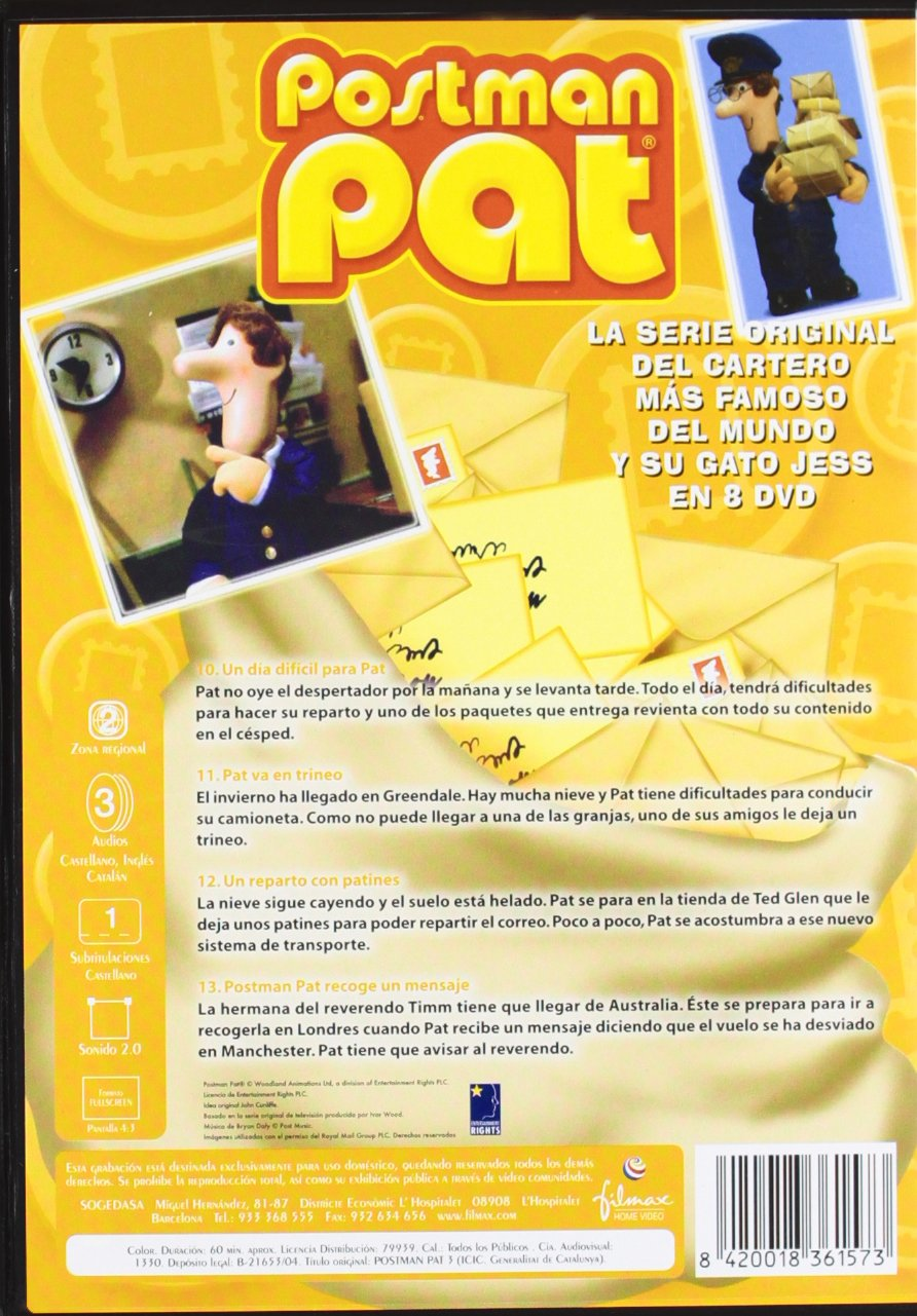 Amazon.com: POSTMAN PAT 3 - Calamity Cat / LAS DIVERTIDAS AVENTURAS DEL CARTERO MAS SIMPATICO Y SU GATO JESS: Postman Pat, Jess the Cat: Movies & TV
