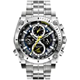 Bulova Mens 47mm Precisionist Stainless Steel Chronograph Watch