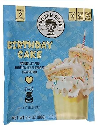 Amazon Frozen Bean Frappe Mix Birthday Cake 28 Oz Grocery