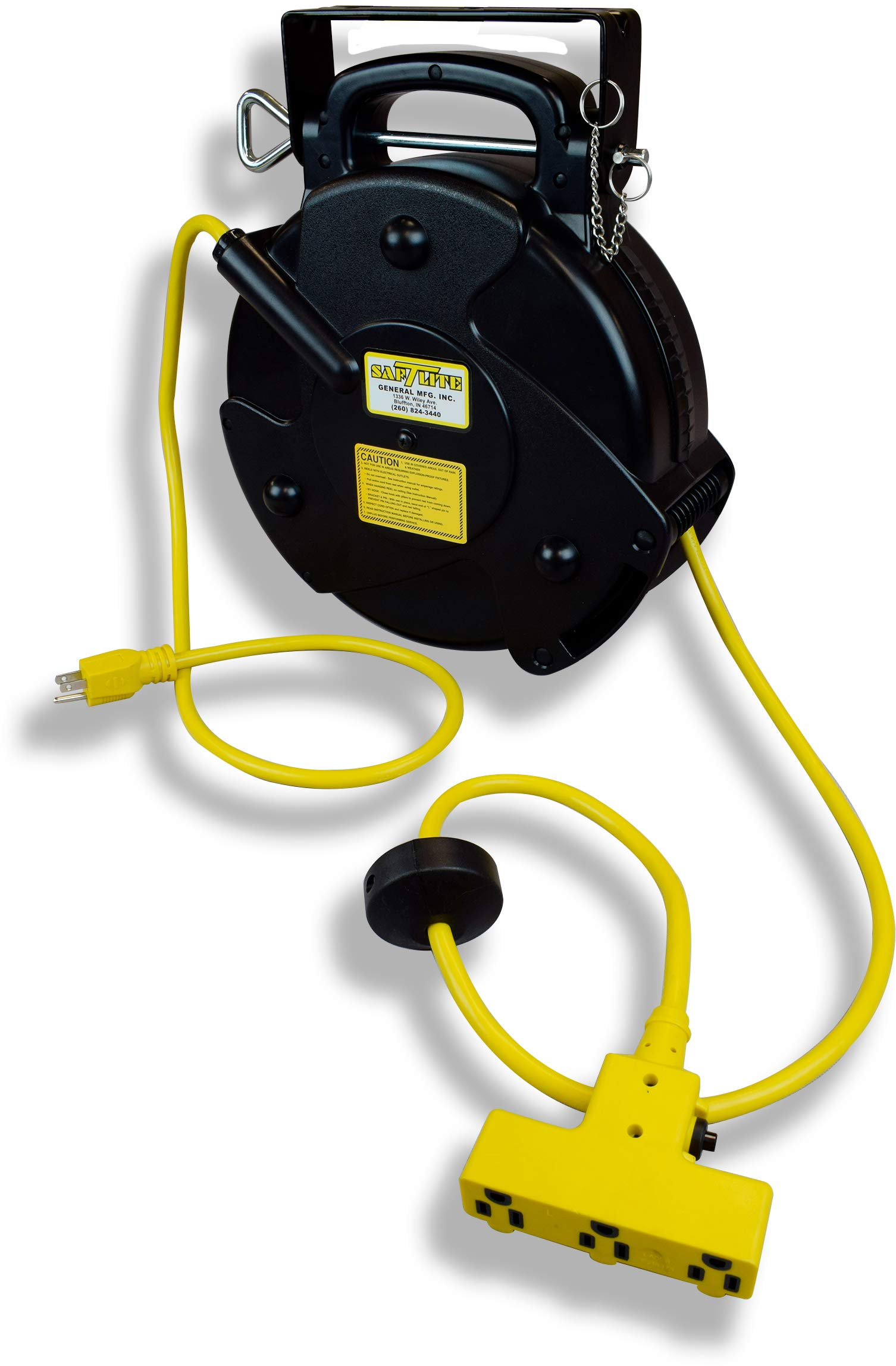 Saf-T-Lite- 2200-3000 Mid Size Portable Power Supply Reel, 40' Cord