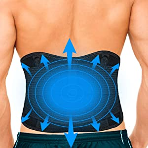 Adjustable Lower Back Brace - Cold Ice Pack & Heat Pack for Lower Back Pain to Support Lumbar, Abdomen, Hip Back, Waist, Scoliosis Herniated Disc, Sciatica, Coccyx injuries (XX-Large)