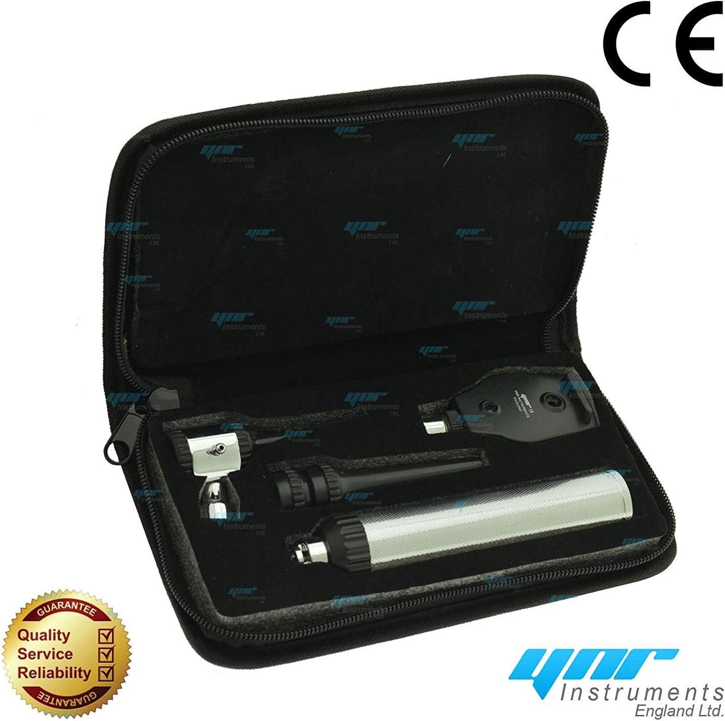 Ynr England Vetscope LED Veterinario Otoscopio Oftalmoscopio Ent Set Veterinario Diagnóstico Veterinarios Profesional Calidad Superior Ce: Amazon.es: Salud y cuidado personal