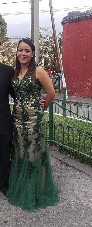 c2767797571 Amazon.com  OYISHA Women s 2019 Long Lace Prom Dresses Elegant Tulle  Mermaid Evening Party Gala Dresses EV112  Clothing