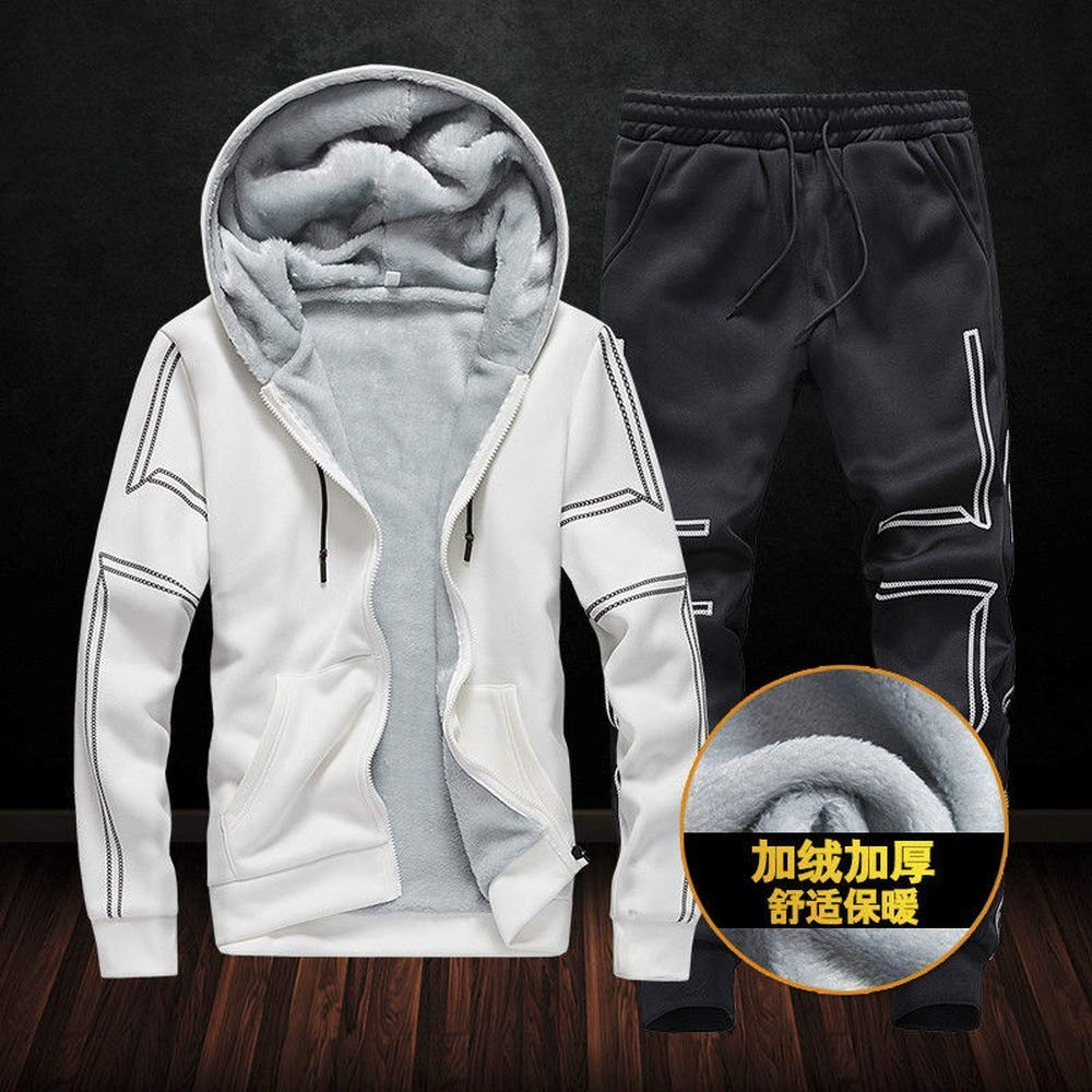 TOP Fighting Mens Winter Tracksuits Fleece Camo Jogging Suits Thick Hoodies Sweatsuits Sports