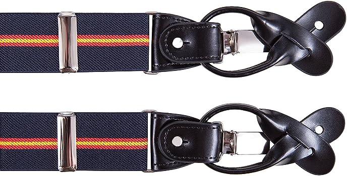 SoloGemelos - Tirantes Bandera España - Azul, Rojo, Amarillo - Hombres - Talla Unica: Amazon.es: Ropa y accesorios
