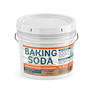 Baking Soda (1 Gallon Bucket, 10 lbs) by Pure Organic Ingredients, Highest Purity, Aluminum Free, Food & USP Grade, For Cooking, Baking, Cleaning, & More!