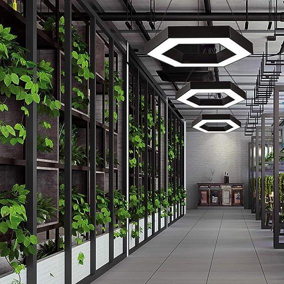 Amazon.com: Lámpara de techo LED geométrica, ajustable ...