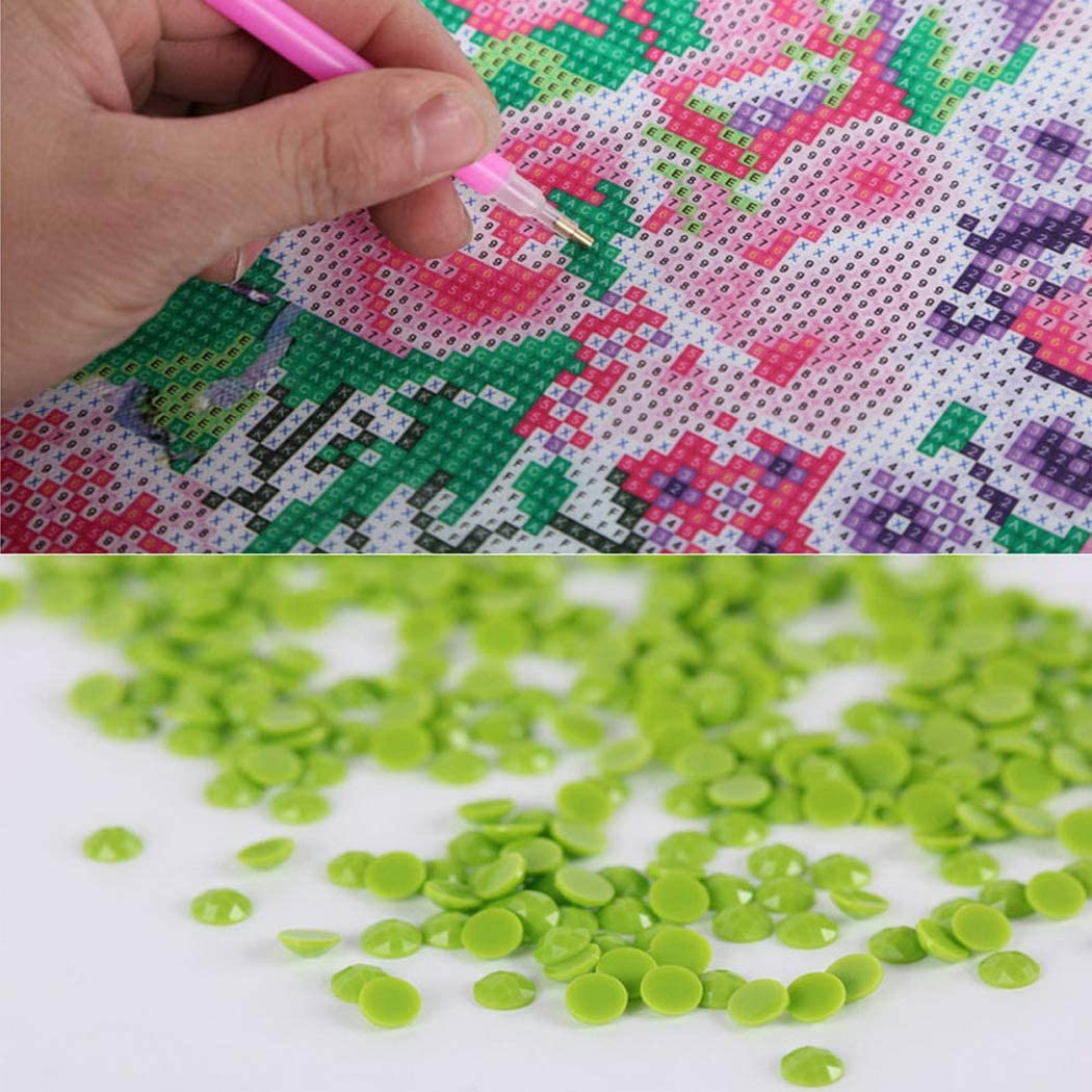 Qibest DIY Landscape Embroidery Rhinestone Painting Cross Stitch Drill Wall Decoration Stamped Kits