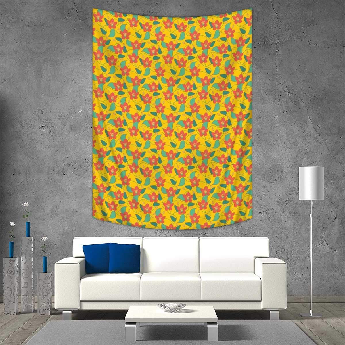 Amazon.com: Anhuthree Floral Art Wall Decor Flowering Meadow Retro ...