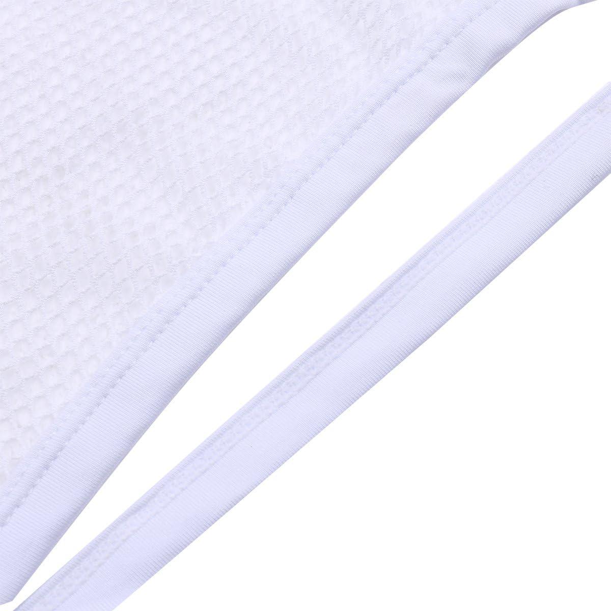 YiZYiF Mens Open Butt Jockstrap Briefs Mesh Fishnet Underwear