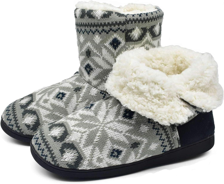 ONCAI Chausson Pantoufles Femmes Chaudes dhiver Chaussures De Maison des Madame Doublure en Fourrure