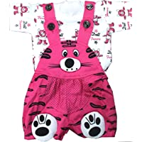 SAS Baby Girl Baby Boys high Quality Dungaree Set for Kids with Complete Skin Care of Your Infant .Print of t Shirt Might Differ