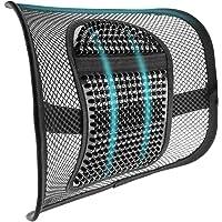 m zimoon Mesh rugsteun, Mesh lendensteun kussen Air Flow stoel rugsteun met elastische riem rugsteun voor thuis…