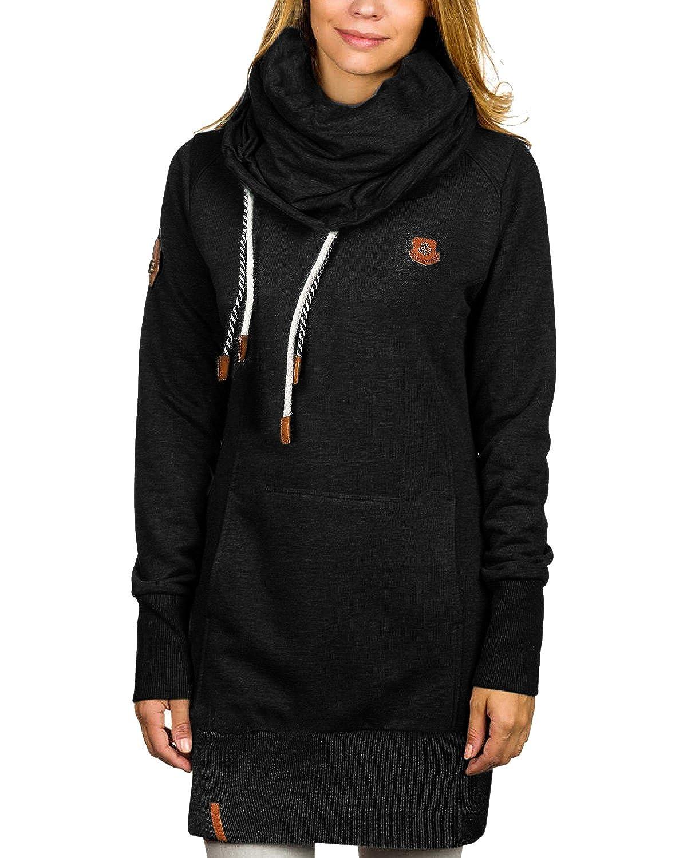 StyleDome Women's Winter Hoodies Pullover Long Sleeve Tops High Necked Sweatshirt Jumper