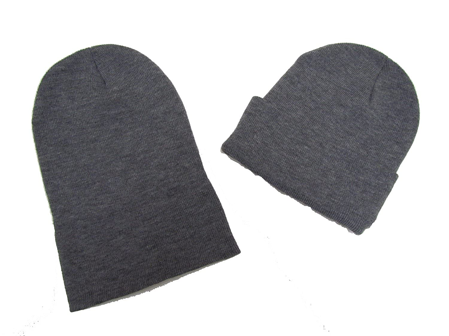 Amazon.com  Black Friday  Cyber Monday Deal! 2 Pack Knit Beanies  Gray   Clothing 424bee37bf8