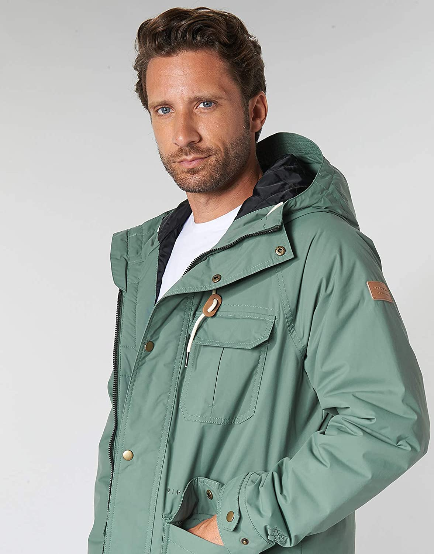 RIP CURL Sabotage Anti-Series Jacket Cappotti Hommes Kaki Parka Kaki