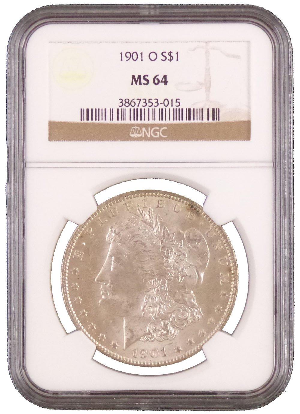 1900-O Morgan Silver Dollar NGC MS 64 White.