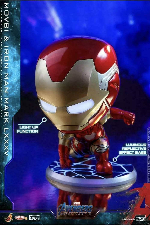 Movbi /& Iron Man Mark LXXXV Figure Hot Toys Cosbaby Bobble-Head Avengers:Endgame